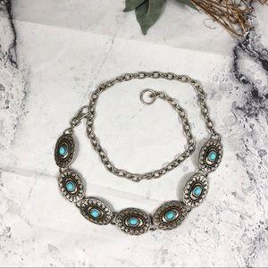 Vintage southwestern style turquoise concho belt